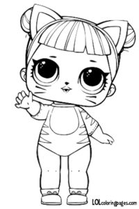 Baby Cat Coloring Page LOL Surprise Doll Coloring Pages