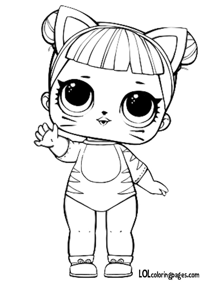 Baby Cat Coloring Page – LOL Surprise Doll Coloring Pages