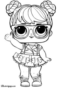 Bon Bon LOL Doll Coloring Page
