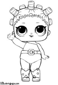 Cosmic Queen Coloring Page – LOL Surprise Doll Coloring Pages