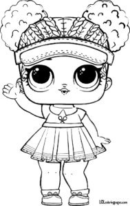 Court Champ LOL Surprise Doll coloring page