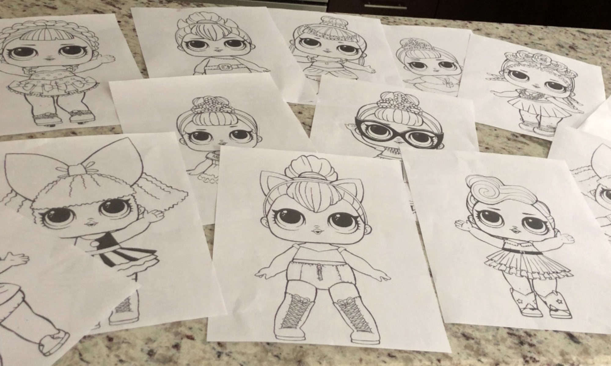 Series 3 LOL Surprise Doll Coloring