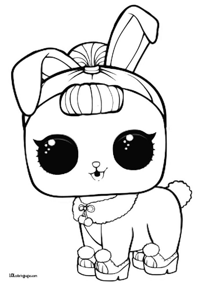 Crystal Bunny Coloring Page
