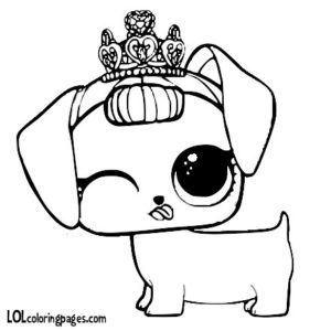 Fancy Haute Dog Coloring Page LOL Surprise Doll Coloring Pages