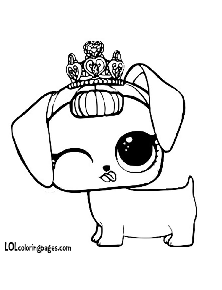 Fancy Haute Dog Coloring Page – LOL Surprise Doll Coloring Pages