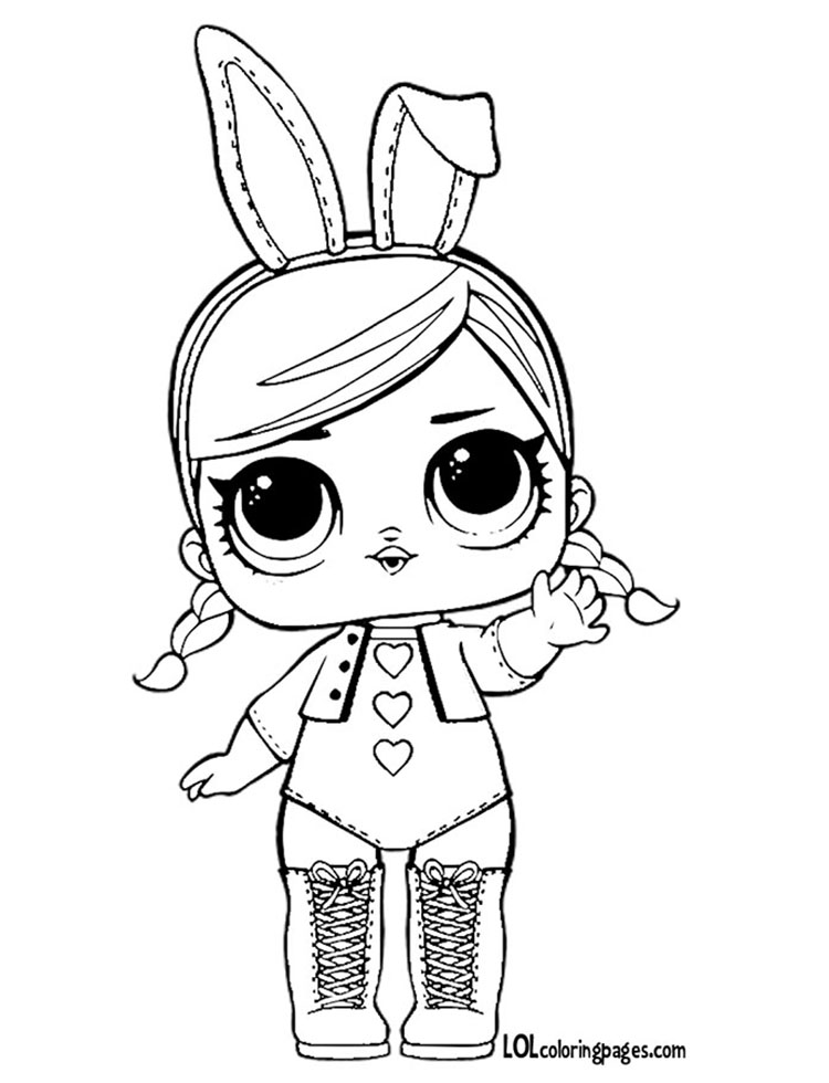 Hops Series 2 Coloring Page – LOL Surprise Doll Coloring Pages