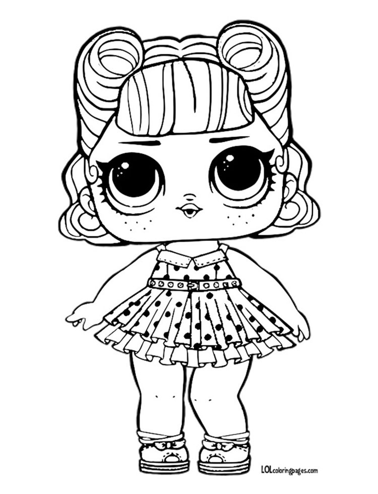 Jitterbug Free Printable Color Page – LOL Surprise Doll Coloring Pages