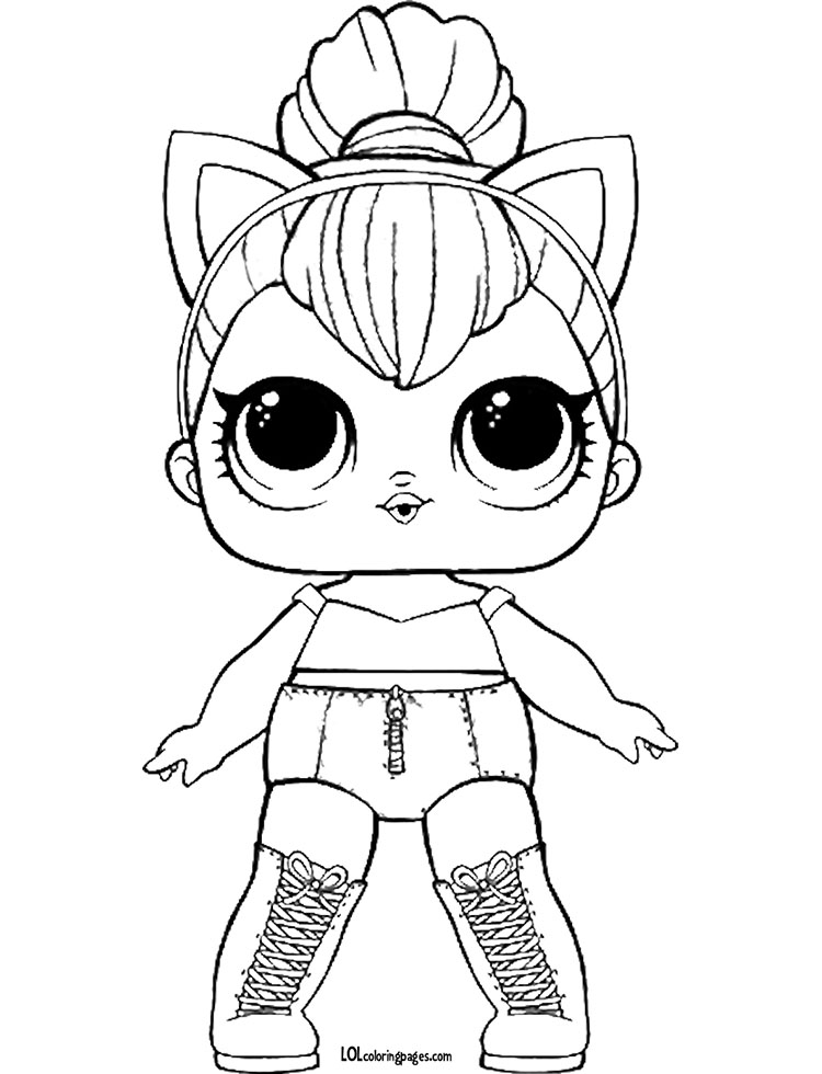 Coloring Sheet Kitty Queen Coloring Page Lol Surprise