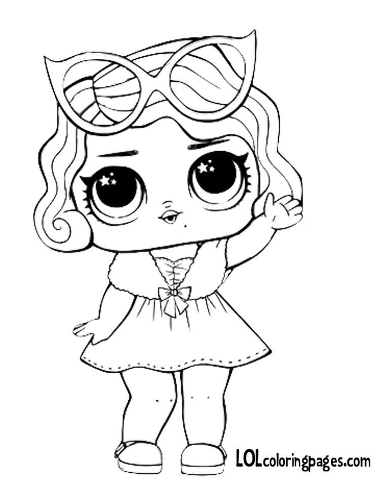Leading Baby Coloring Page LOL Surprise Doll Coloring Pages
