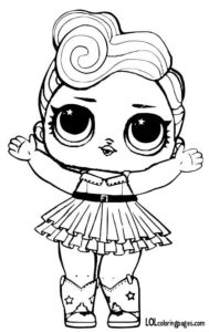 Luxe Printable Coloring Page Lol Surprise Doll Pages