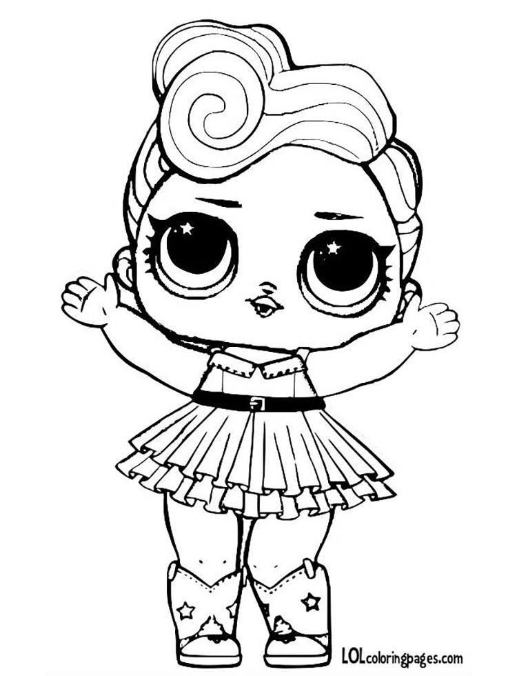 Charming Luxe Printable Coloring Page. Share With Friends. Luxe LOL Surprise Doll Coloring  Page