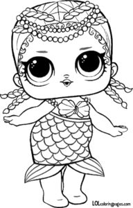 Merbaby lol surprise doll coloring sheet