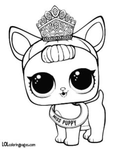 Miss Puppy Coloring Page – LOL Surprise Doll Coloring Pages