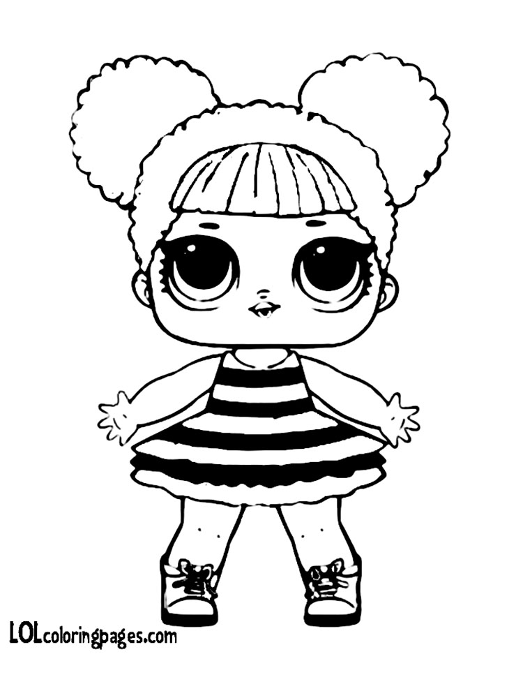 Queen Bee Lol Doll Coloring Page Rainbow Playhouse Sketch