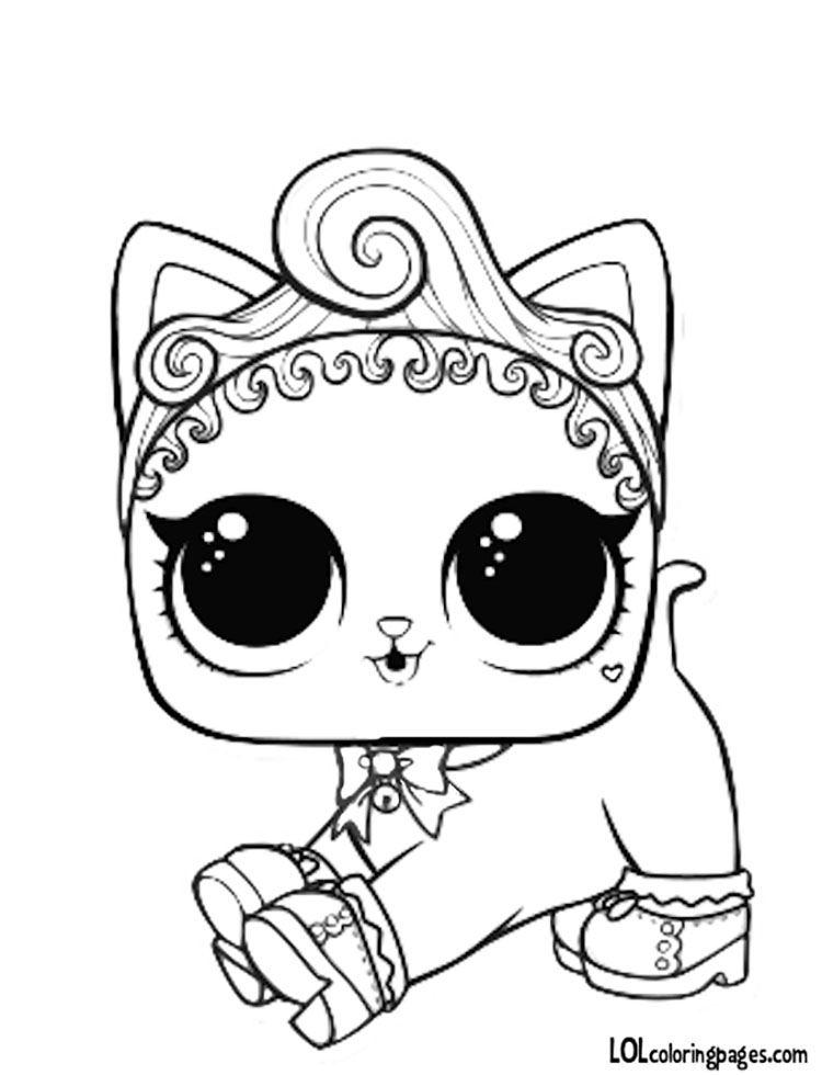 Coloring Pages Lol Pets : Royal kitty cat coloring page lol surprise doll