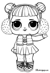 Snow Angel Color Pages – LOL Surprise Doll Coloring Pages