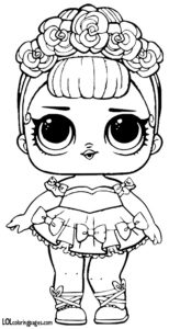 Sugar Queen Coloring Page LOL Surprise Doll Coloring Pages