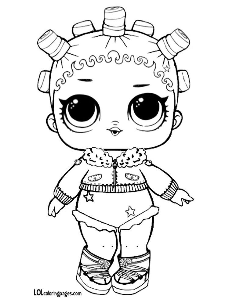 Glitter Fresh Coloring Page – LOL Surprise Doll Coloring Pages