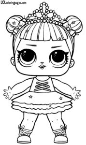 Glitter Center Stage LOL Surprise doll coloring page