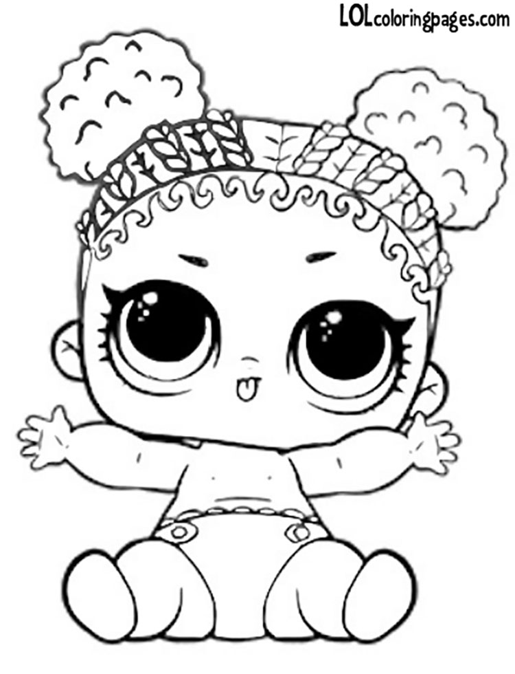 lol dolls coloring pages sketch coloring page