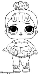 Glitter Lol Surprise Doll Coloring Pages
