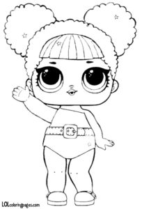 Glitter Queen Bee LOL SUrprise doll coloring page