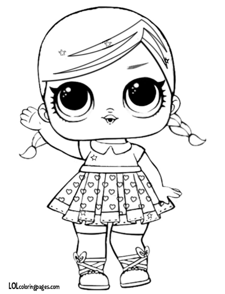 Glitter Super BB Coloring Page LOL Surprise Doll Coloring Pages