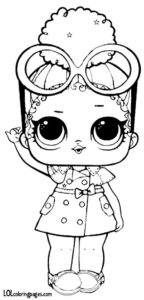 Boss Queen Series 3 Coloring Page LOL Surprise Doll Coloring Pages