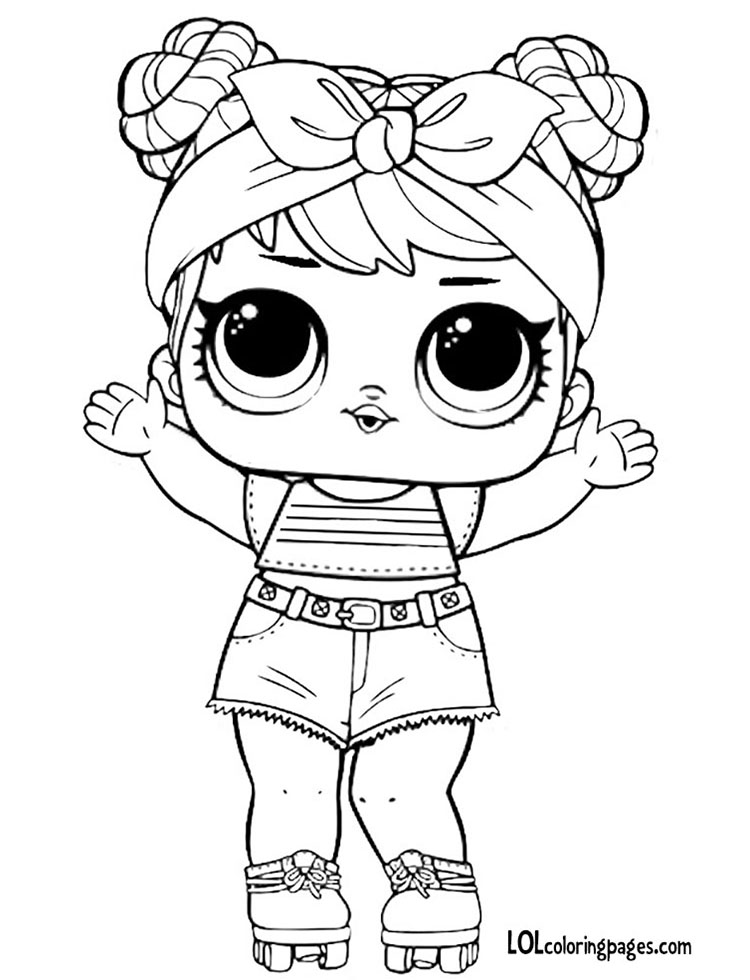 series 3 dawn coloring page � lol surprise doll coloring pages