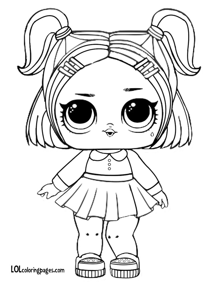 Dusk LOL Doll Coloring Page. Share With Friends. Dusk LOL Doll Coloring Page