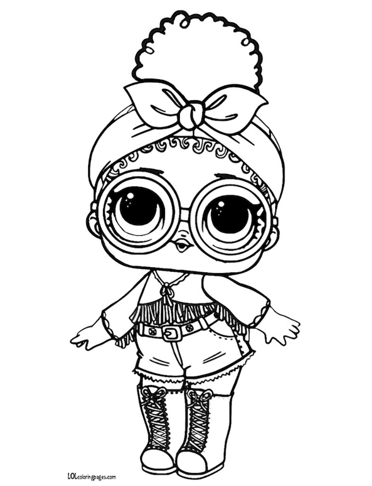 Foxy Series 3 L.O.L Surprise Doll Coloring Page Boyama
