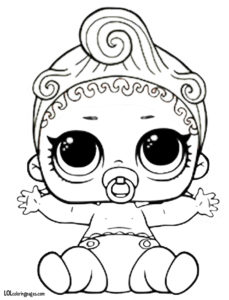 Lil Can Do Baby Coloring Page – LOL Surprise Doll Coloring Pages