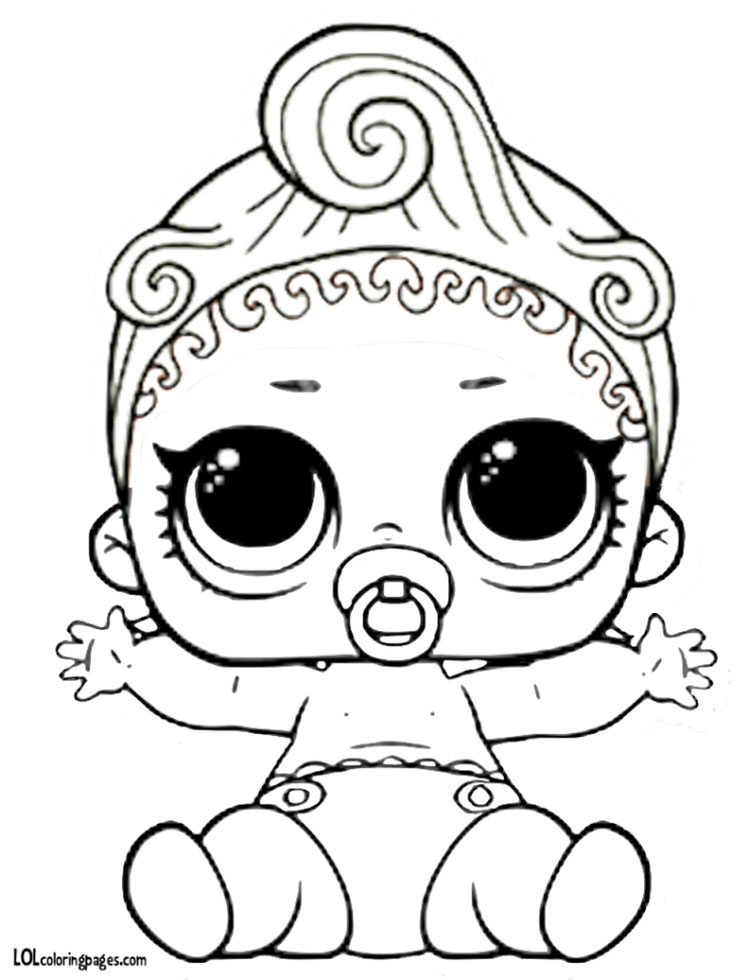 lil can do baby coloring page � lol surprise doll coloring