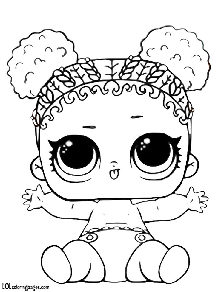 Lol Doll Coloring Pages Little