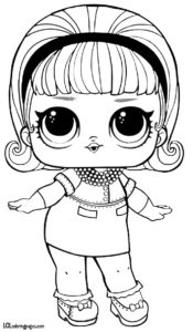 Madame Queen Coloring Page – LOL Surprise Doll Coloring Pages