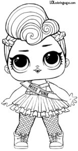 Miss Punk Series 2 LOL Surprise Doll Coloring page