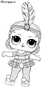 Showbaby LOL Doll Free Printable Coloring Page