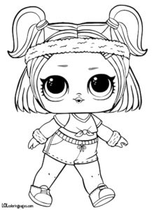 Sprints LOL Doll Coloring Page – LOL Surprise Doll Coloring Pages