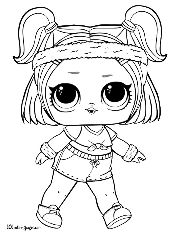 Sprints LOL Doll Coloring Page Share With Friends Lol