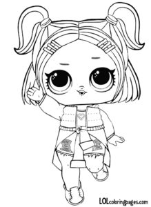 vrqt lol surprise doll series 3 coloring page - 3 Coloring Page