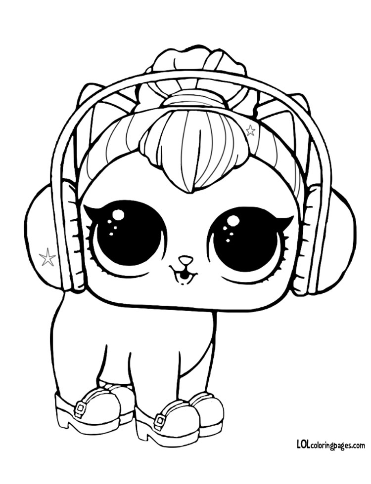 Kitty Kitty Coloring Coloring Page – LOL Surprise Doll Coloring Pages