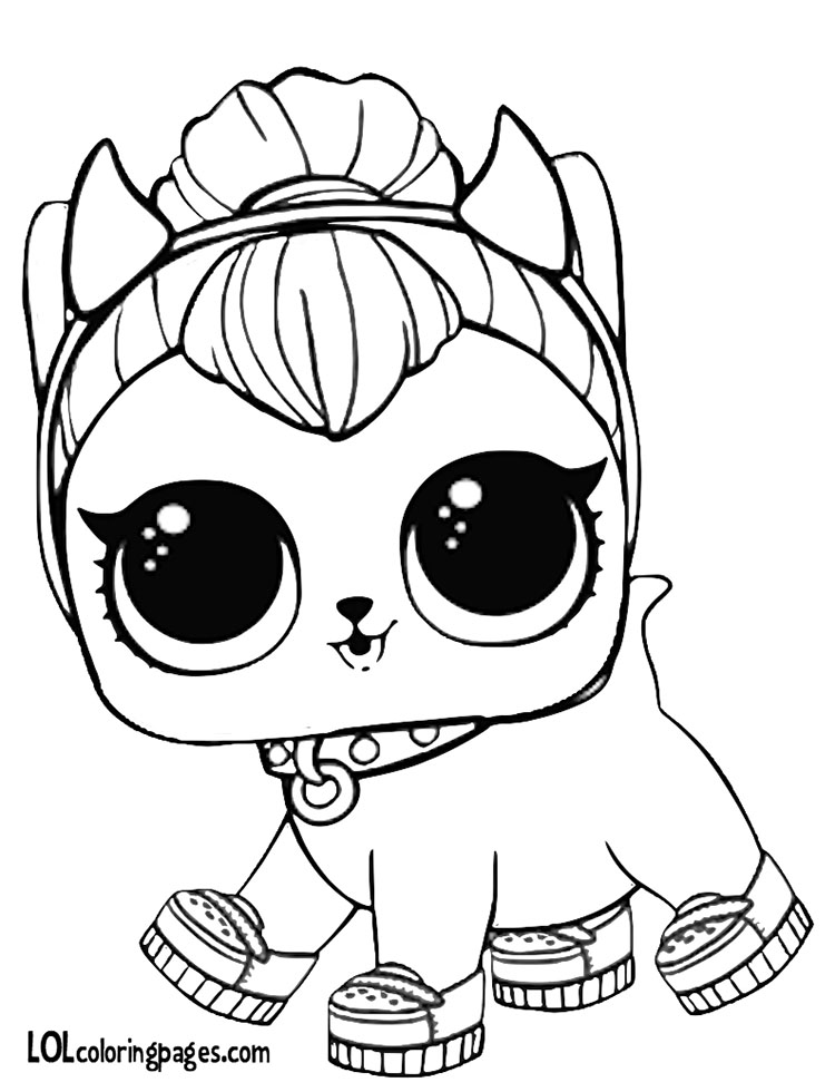 Coloring Pages Lol Pets : Spicy kitty coloring page lol surprise doll pages