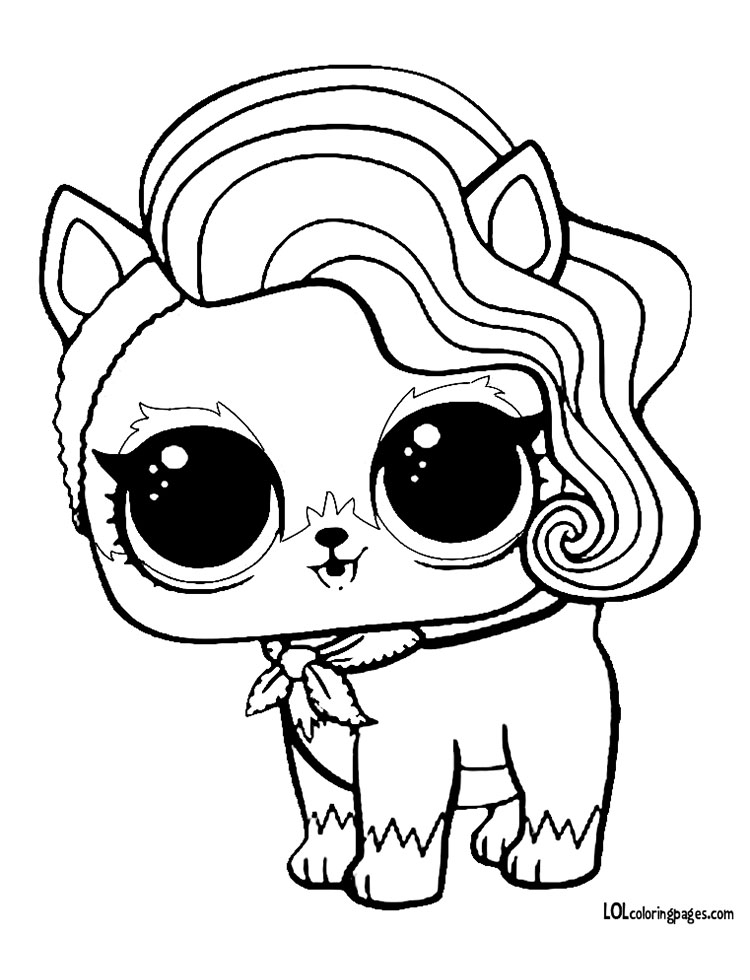 Sur Fur Puppy Coloring Page – LOL Surprise Doll Coloring Pages