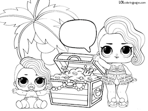 Treasure Found Treasure Coloring Page – LOL Surprise Doll Coloring Pages