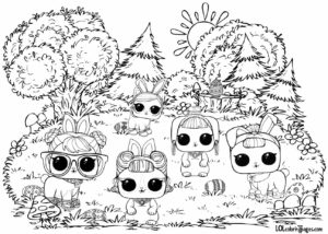Pets Page 2 LOL Surprise Doll Coloring Pages