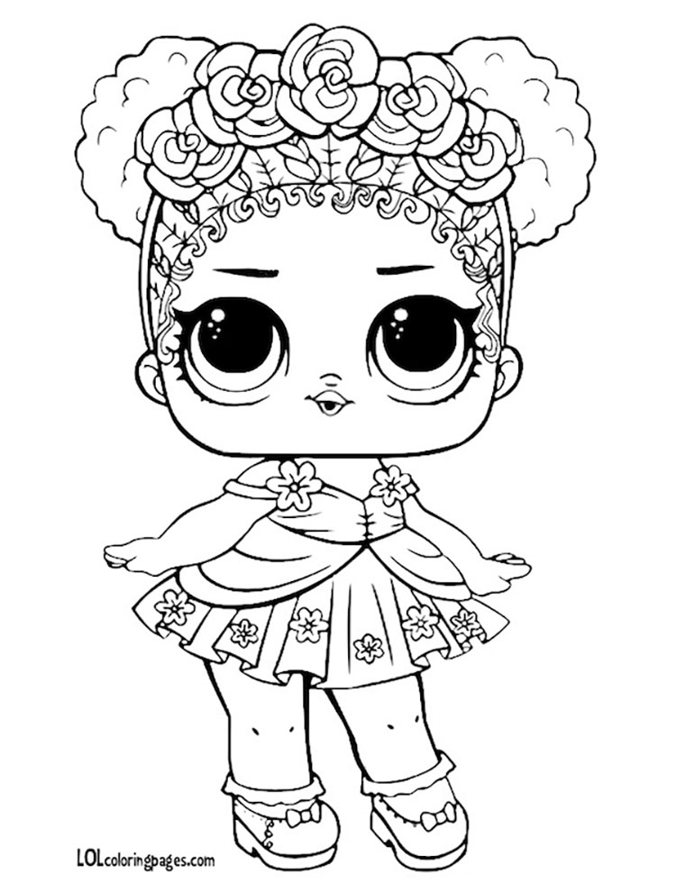 Flower Child Coloring Page – LOL Surprise Doll Coloring Pages