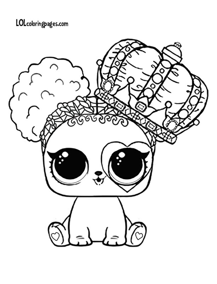 Heart Barker Coloring Page – LOL Surprise Doll Coloring Pages