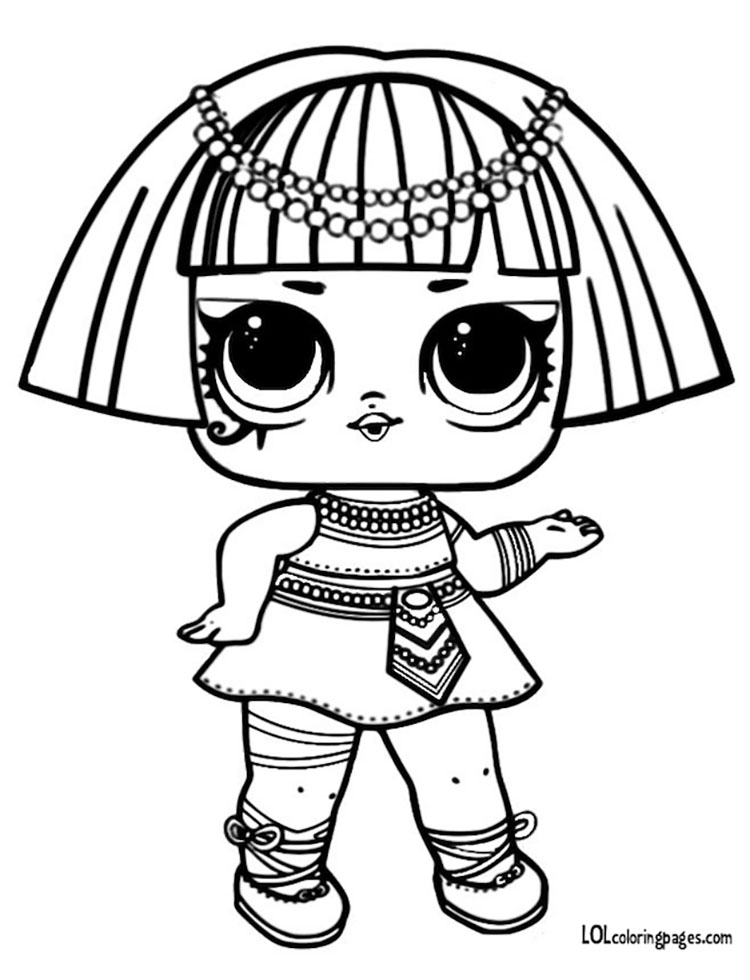 Pharaoh Babe L.O.L Surprise Coloring Page – LOL Surprise Doll ...