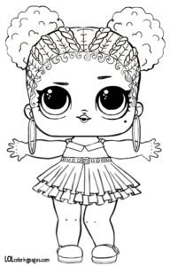 Luxe Lol Doll Coloring Pages Wwwpicturessocom