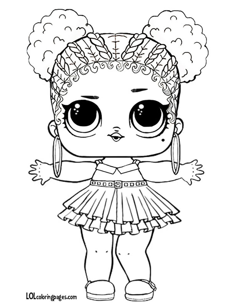 Purple Queen LOL Doll Coloring Page – LOL Surprise Doll Coloring Pages